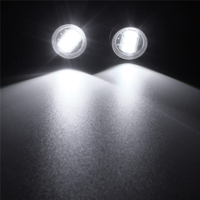 Pair 3W LED Eagle Eye Lamp Car Up Reverse Lamp Daytime Running Light DRL 3 Led