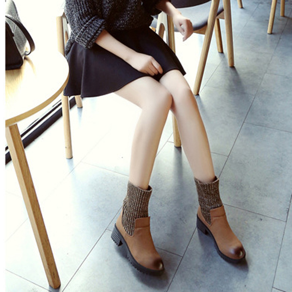 Multiple Ways Round Toe Slip On Casual Ankle Short Boots For Women