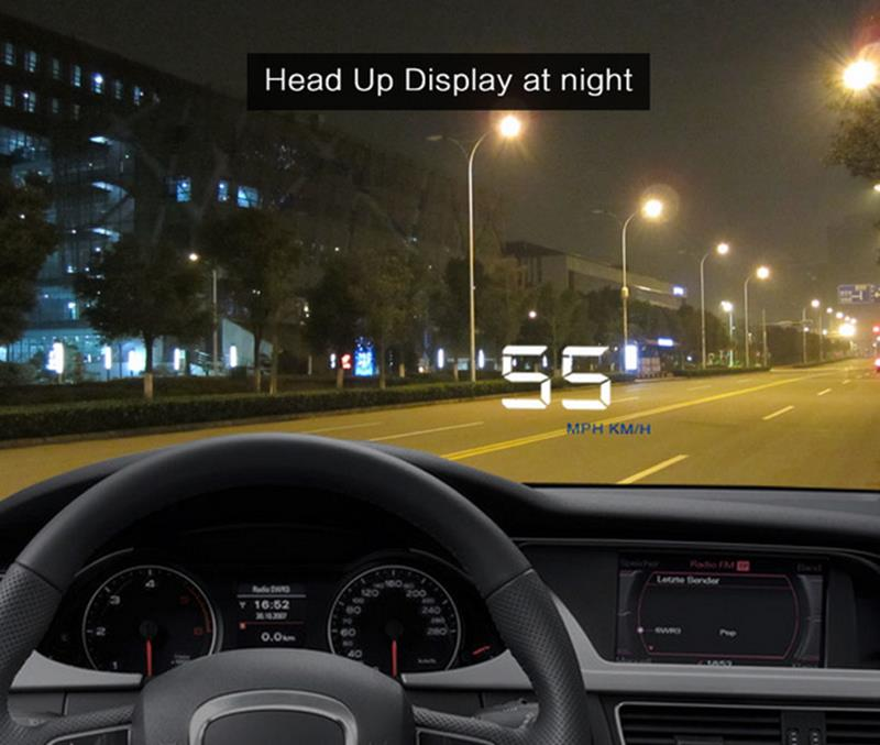 A500 Car Hud Head Up Display HD Car Speed Projector Car Styling Wind Shield OBD2 GPS Digital