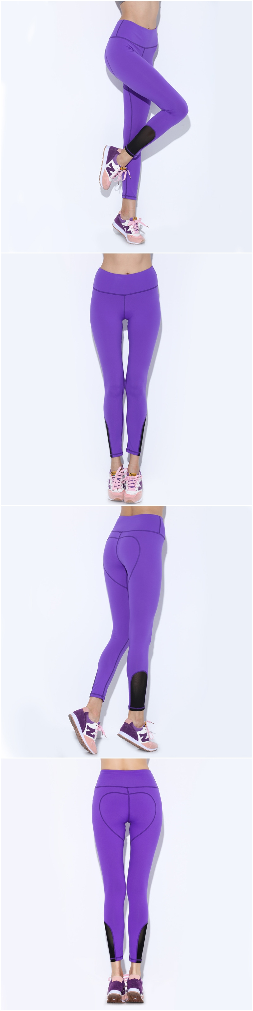 High Waist Women Heart Sport Legging Breathable Quick Dry Elastic Fitness Running Pants