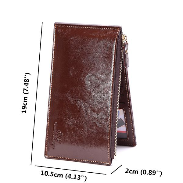 Large Capacity Men Pu Leather Business Wallet Card Holder