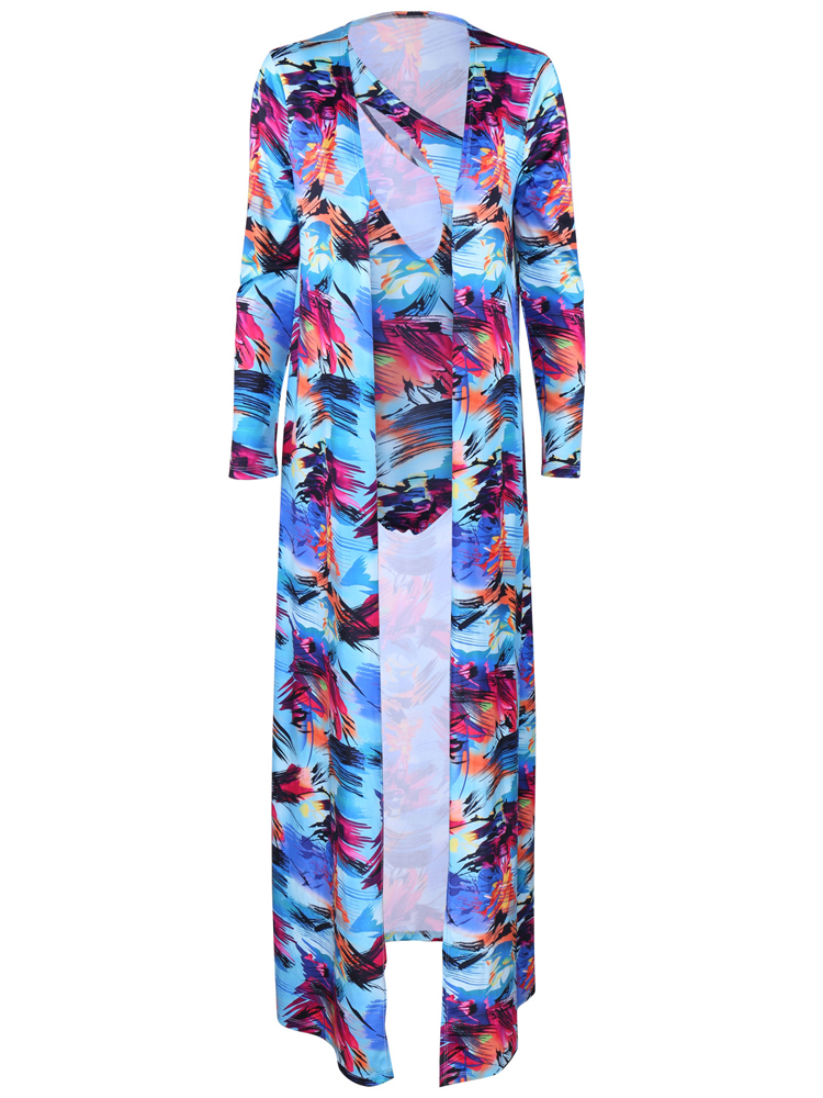 Milk Silk Printing Ink One-shoulder Swimsuit Two Suit