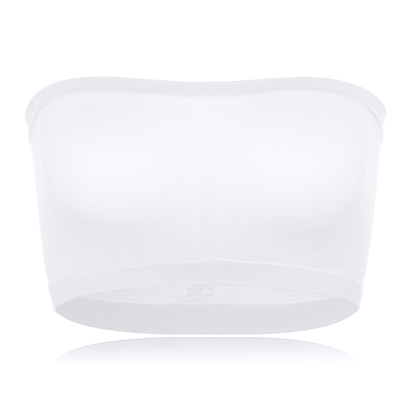 Women Comfy Soft Seamless Wireless Padding Anti Exposure Strapless Tube Top