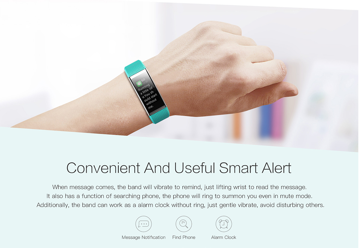 Bakeey Fit HR2 IP67 Heart Rate Sleep Monitor bluetooth Fitness Tracker Smart Wristband