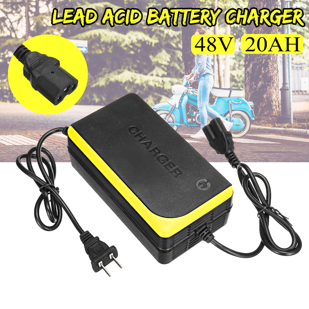 48V 20Ah Battery Charger Electric Motorcycle Lead Acid Battery Charging Equipment