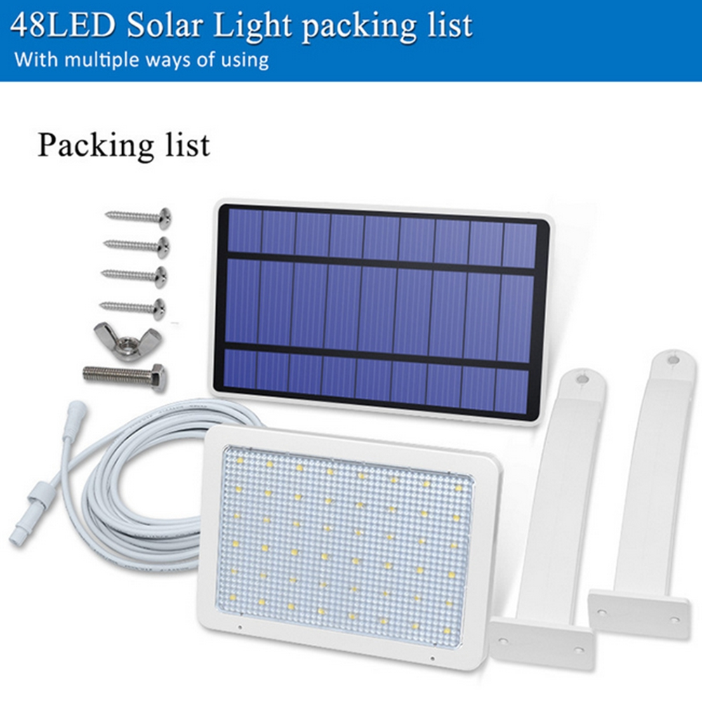 Solar Panel LED Light Sensor Wall Street Lamp Adjustable Floodlight Waterproof For Outdoor Lawn Garden