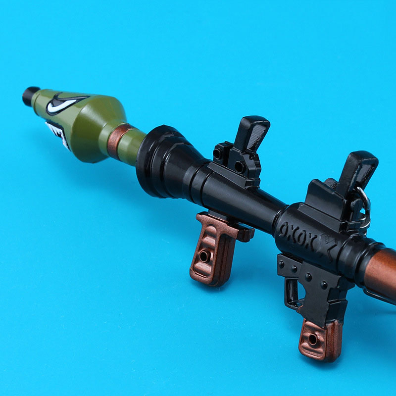Fortnite Rocket Launcher Keychain Fort Night Cosplay Gun Weanpon Model Keychain Key Rings