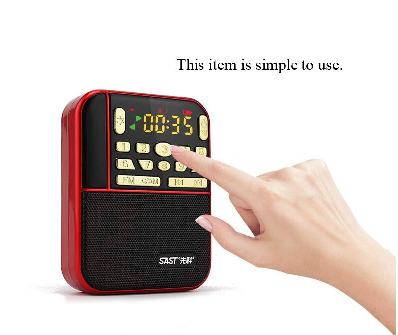 SAST N-500 Portable Mini FM Pocket Stereo Radio With TF/USB-Disk Speaker MP3 Music Player