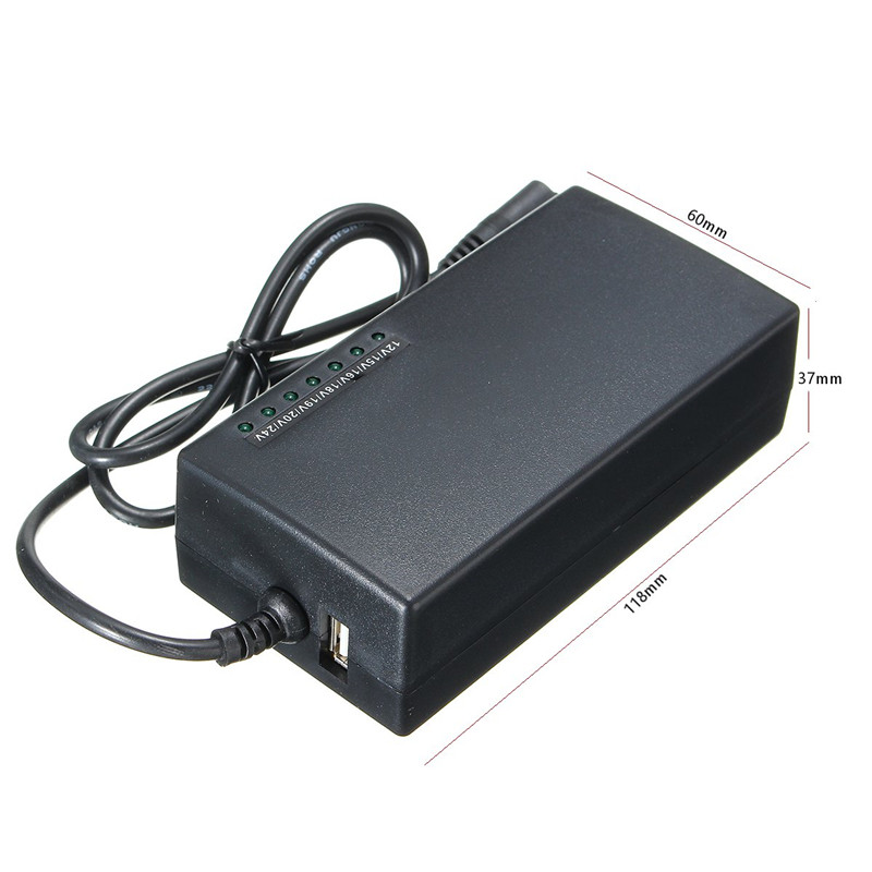 96W Universal AC Adapter Power Supply Charger Cord For Laptop Notebook
