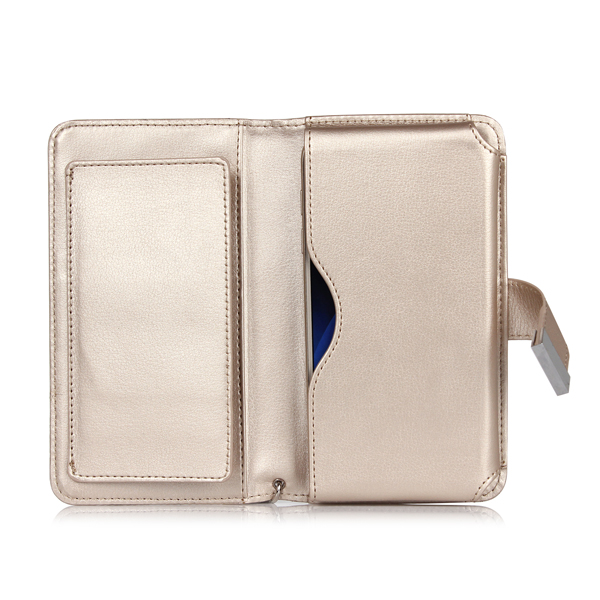 Universal Fashion Magnetic Leather Handbag Wallet Card Solt Case For Phone From 5.1 to 5.5 Inch