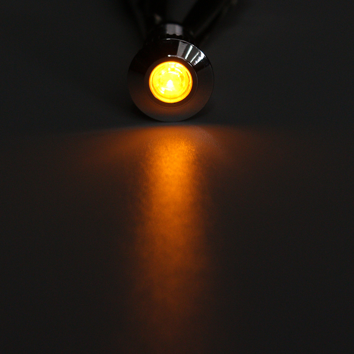 12V Metal 8mm LED Panel Dash Lamp Warning Light Indicator Waterproof