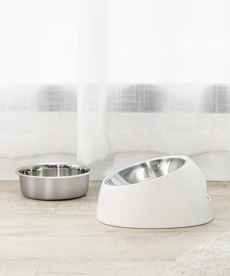 Jordan&Judy Pet Dog Bowl From Xiaomi Youpin Anti-slip Cat Dish Tilted Pet Feeder With Base Suitable For Most Cats