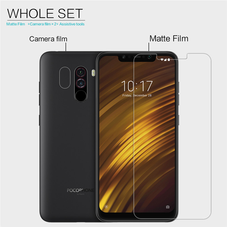 NILLKIN Matte Anti-scratch Screen Protector + Lens Protective Film for Xiaomi Pocophone F1