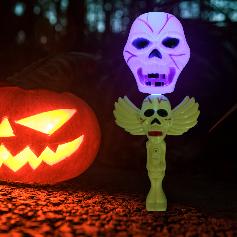 MoFun Halloween Pumpkin Glow Stick Ghost Purple Light Decoration Toys Party Home Decor