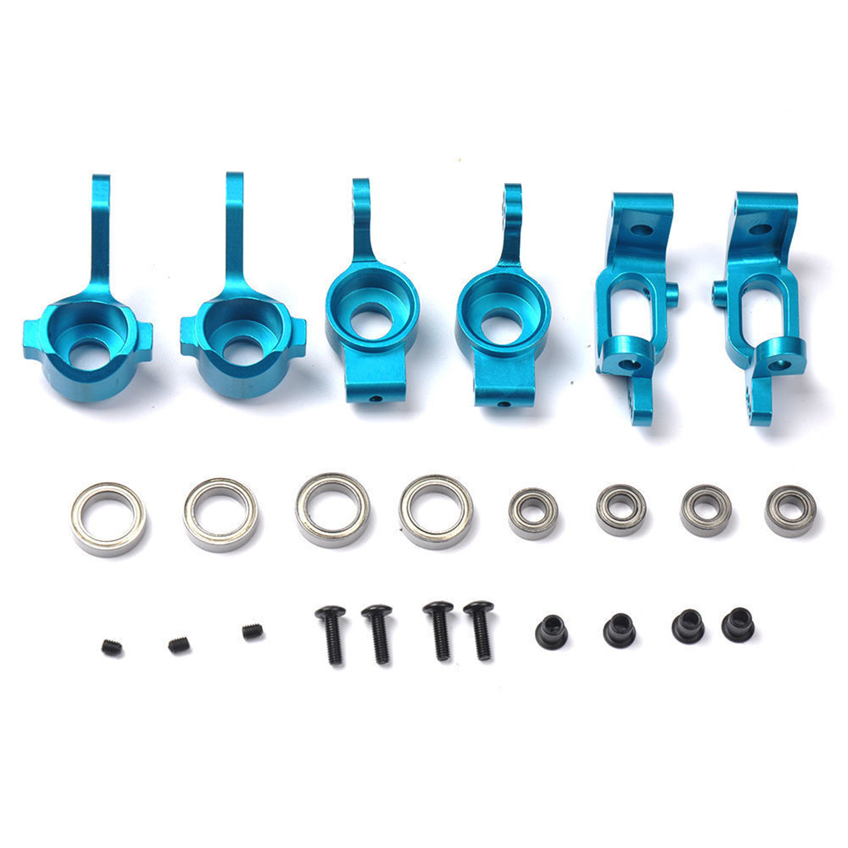 For HSP 1:10 RC Racing Car Upgrade Parts Alloy Front Rear Hub Carrier Steering