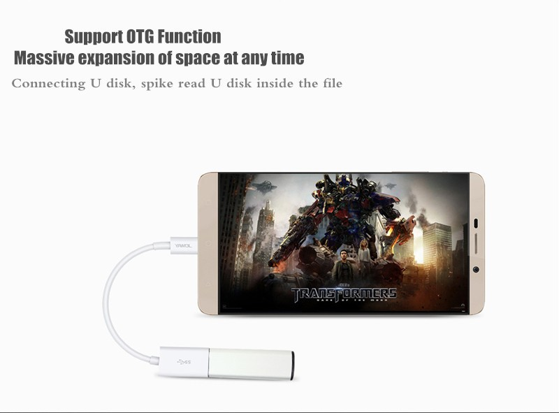 JOWAY USB 3.0 Type-C Data Sync Charge OTG Cable For New MacBook Nokia N1 Tablet Let