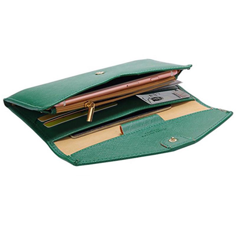 Women Men Simple Wallet Pen Card Holder Passport Clutch Bag