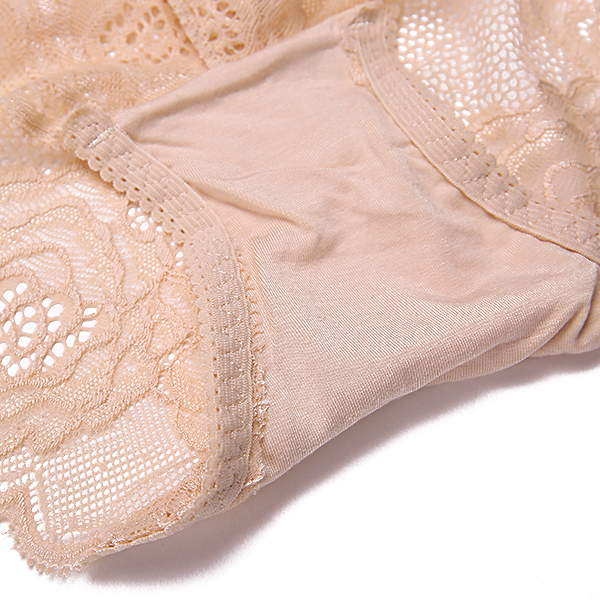 Mid Waisted Hollow Out Panties