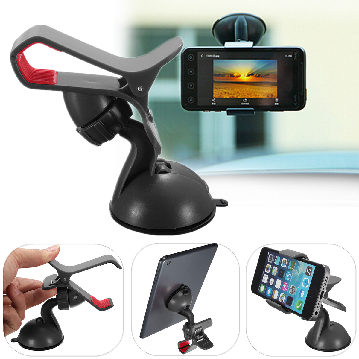 Car Wind Shield Mount Stand Holder For iPhone Mobile Phone GPS