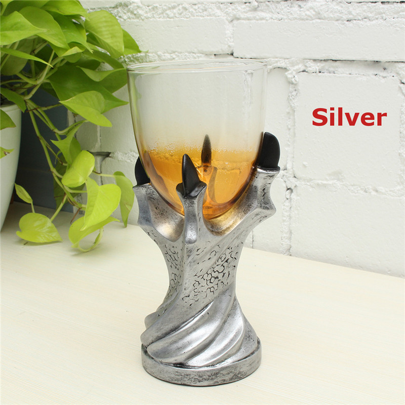 Halloween Dragon Glass Holder Wine Goblet Replica Gothic Decor Glass Cup
