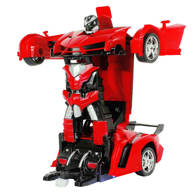 Rastar 1/18 2 In 1 RC Car Wireless Sports Transformation Robot Model Deformation Truck Fighting Toy