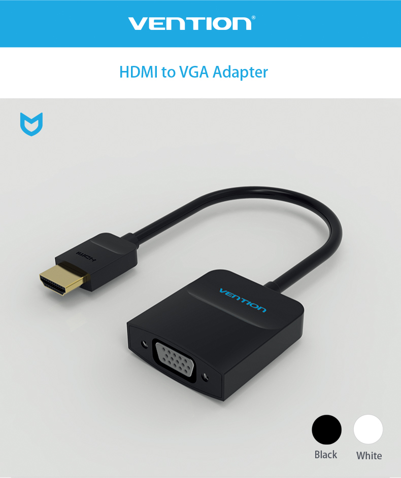 Vention ACFBB 1080P HDMI to VGA Adapter Digital to Analog HDMI Convertor Cable for XBOX PS3 HDTV PC