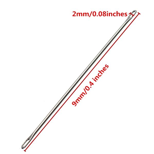 Titanium Steel One Double Eye Transfer Needle For 9mm Bulky Knitting Machine