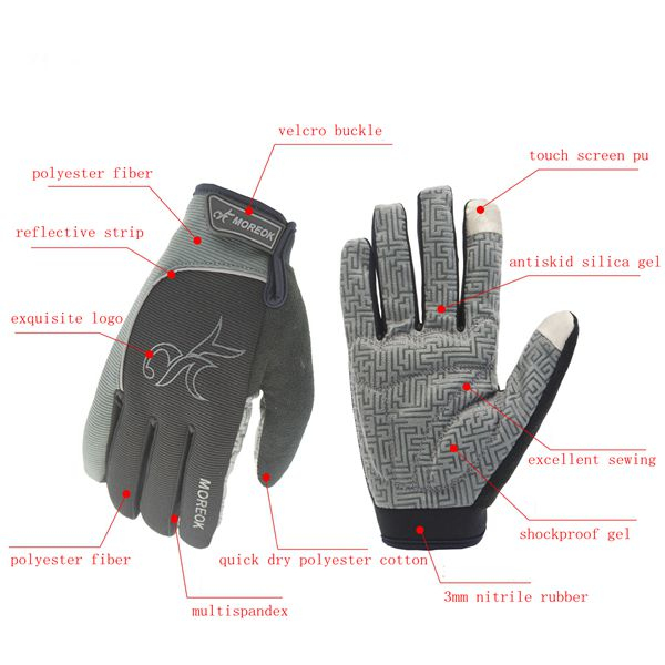 Touch Screen Gloves For Motorcycle Scooter Bike Cycling Sking Climbing Running