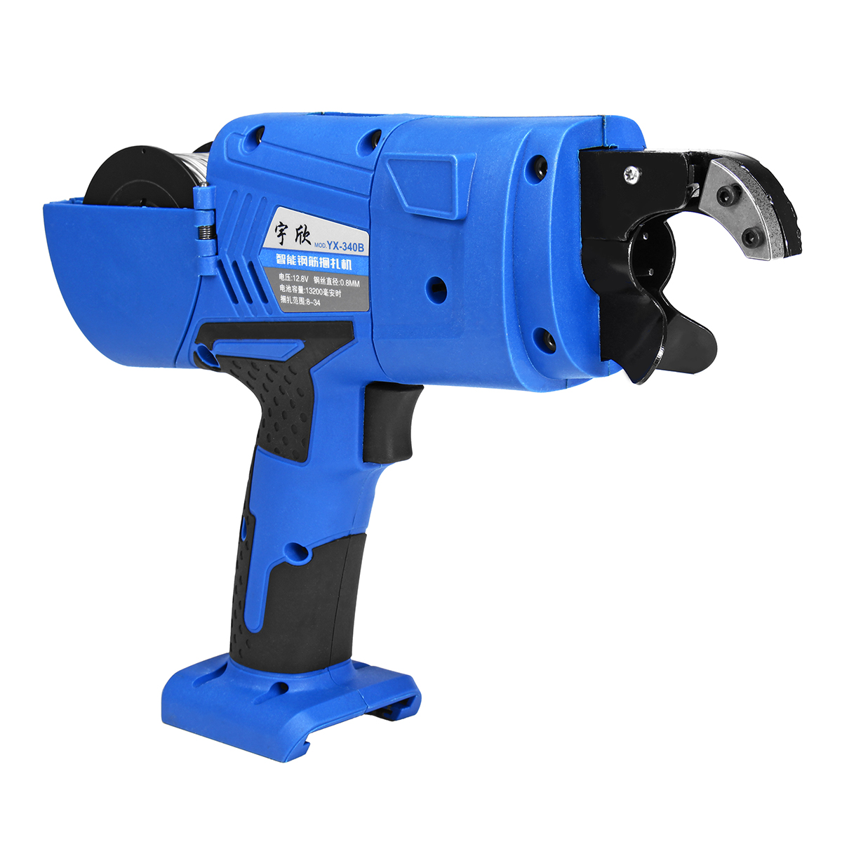 12.8V Automatic Rebar Tying Machine Rebar Tier Tool Strapping 8mm-34mm Wrench