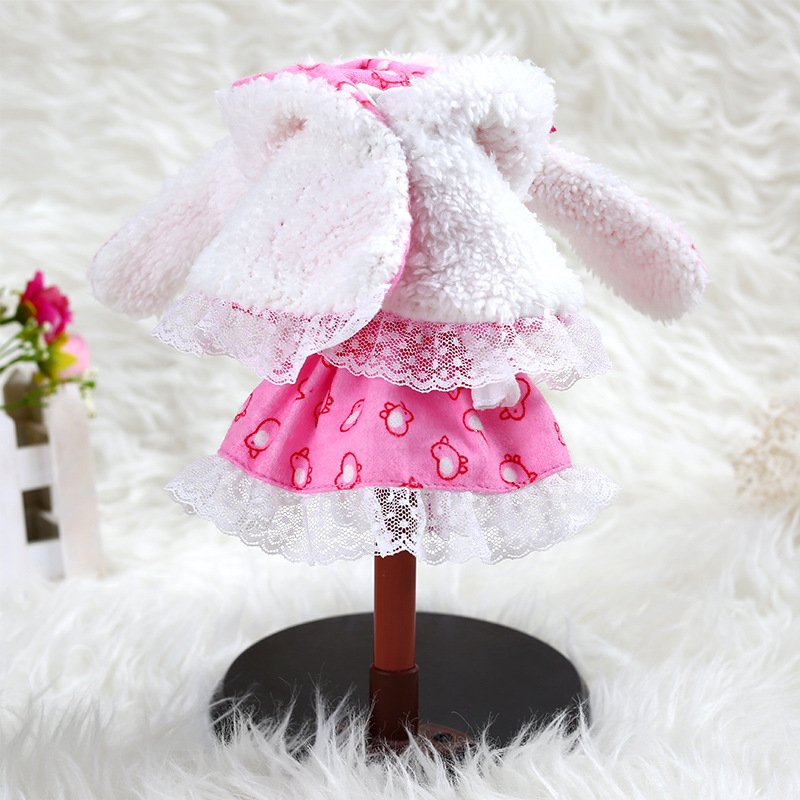 BBGirl 30cm 35cm BJD Doll Dress Rabbit Hood Party Fashion Clothes DIY Accessories Toy