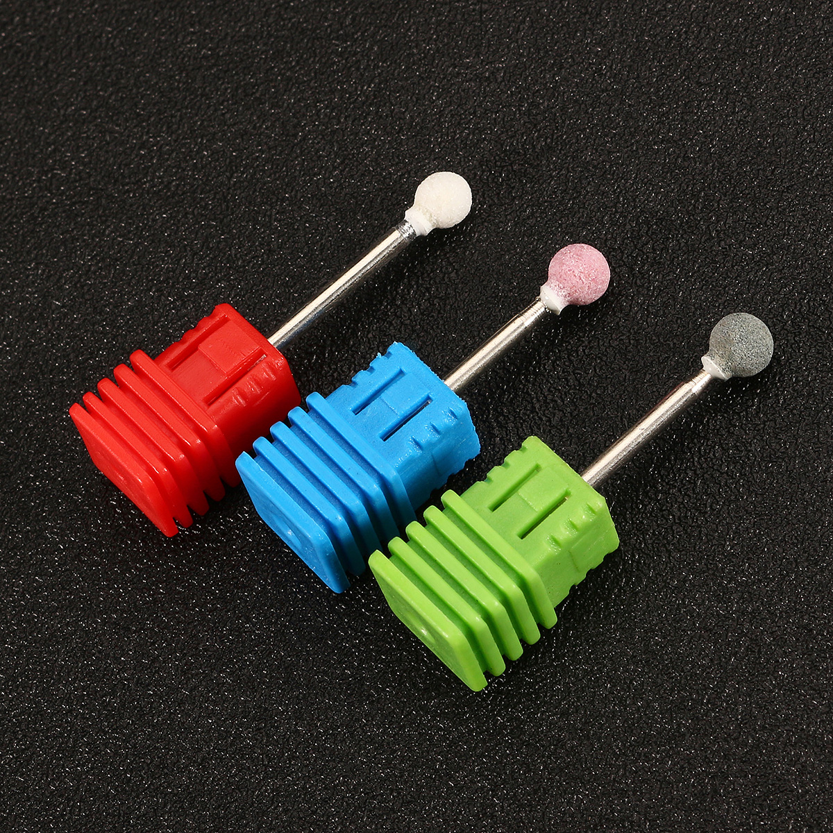 3/32 Inch Electric Nail Drill Bits Replacement Polishing Heads Ceramic Acrylic Manicure Tool