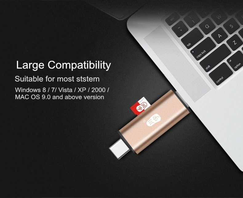 Kawau Type-c OTG USB 2.0 TF Memory Card Reader with Micro USB Adapter for Xiaomi Mobile Phone PC