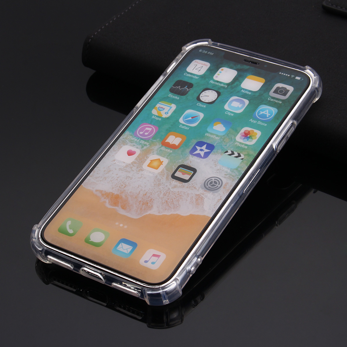 Multi-colors Air Cushion Corners Shockproof Transparent Soft Silicone TPU Case for iPhone X