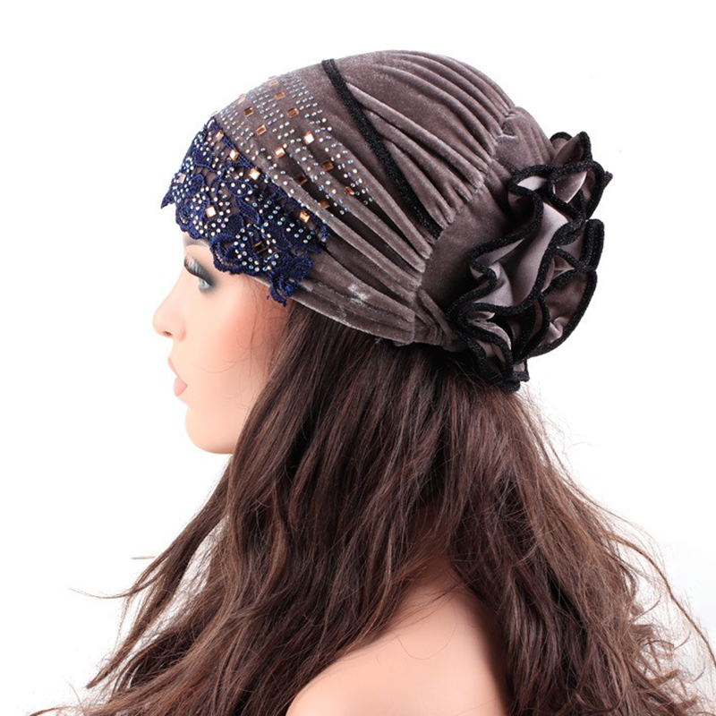 Indian Ethnic Style Side Flower Turban Cap
