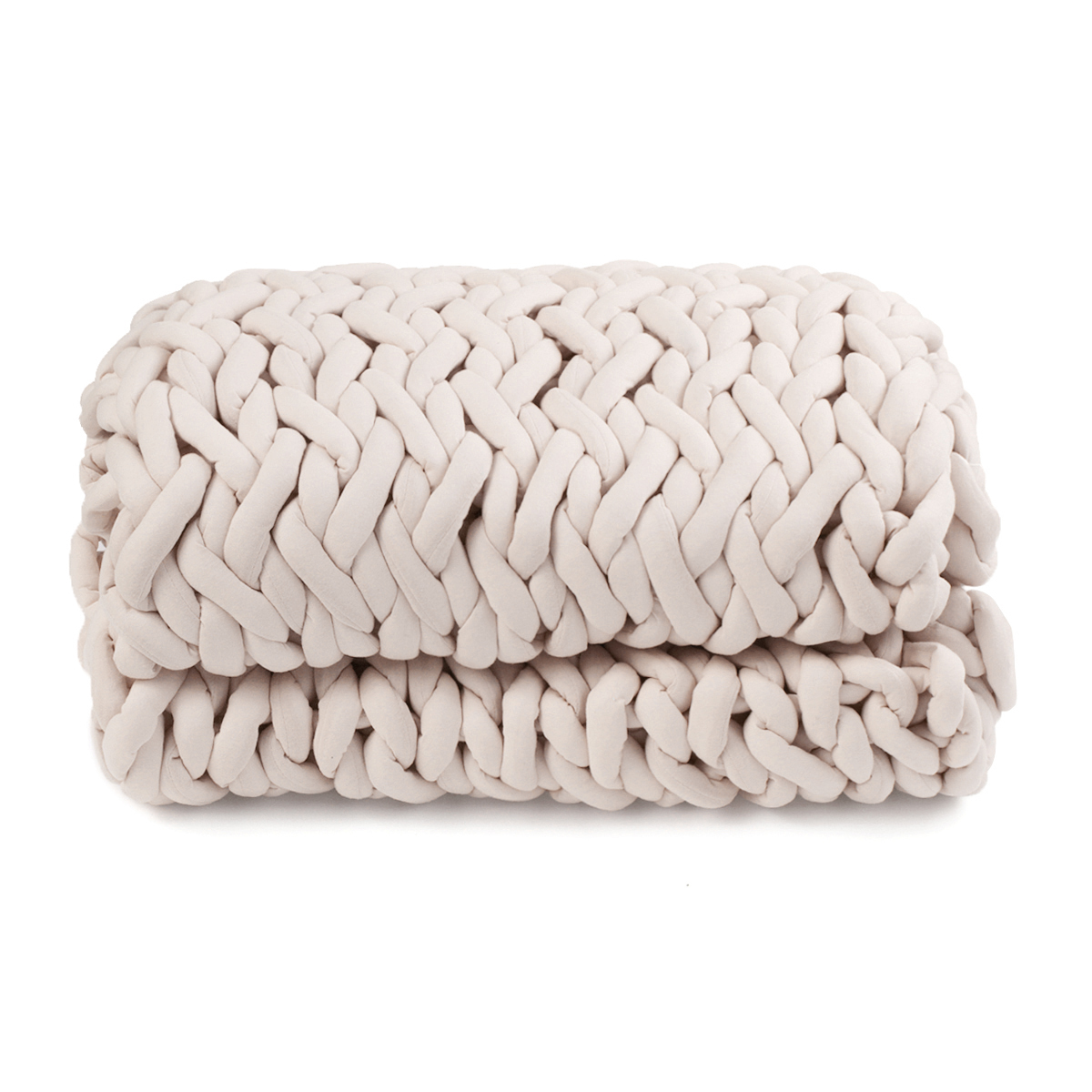 100x120cm Handmade Knitted Blankets Soft Warm Thick Line Cotton Throw Blankets