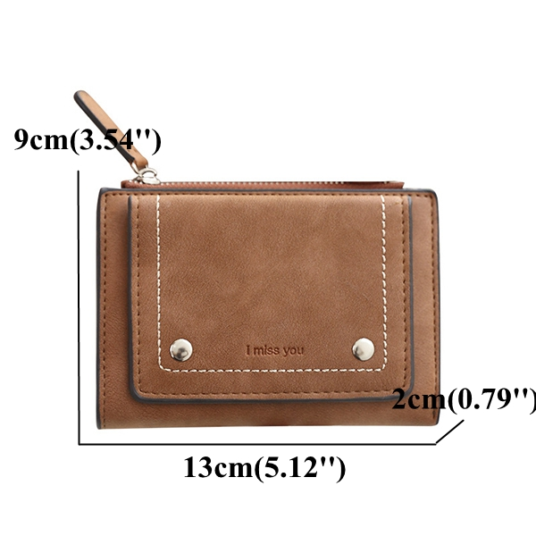 Vintage Multi-slots PU Leather Card Holder Small Wallet