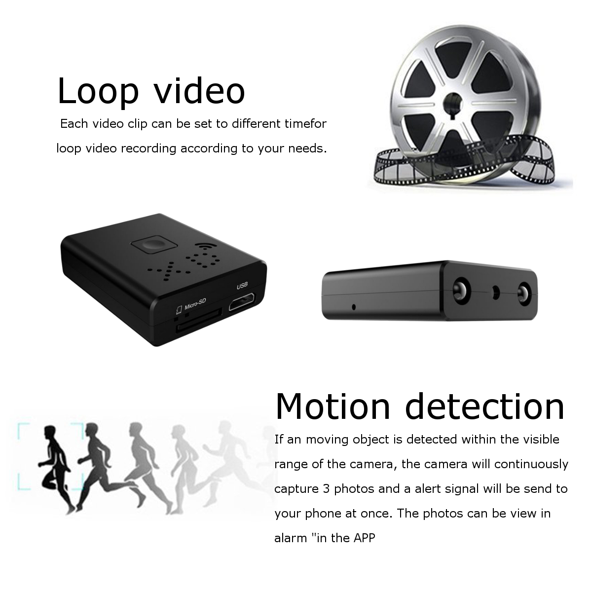 XANES HD 1080P WIFI Vlog Camera for Youtube Sports Camera Infrared Night Vision Camcorder