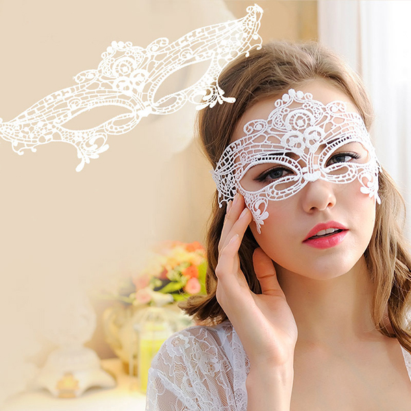 Lady Gril Sexy Black Lace Hollow Face Mask For Masquerade Party Fancy Costume Dress Half Face