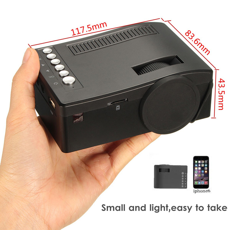 UNIC UC18 Full HD Home Theater LED Multimedia Projector Cinema USB TV HDMI TF 1080P Video Player