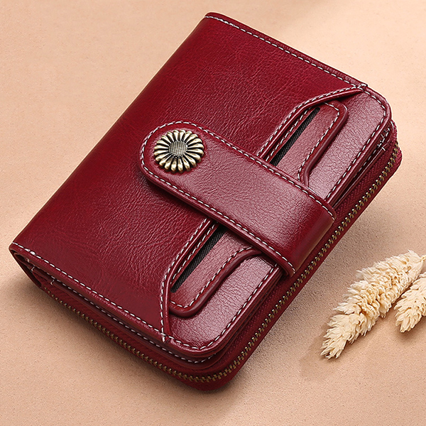 Details: Brand Brenice Material Genuine Leather Color Blue, Burgundy, Yellow, Black Weight 140g Length 10cm(3.94'') Height 12cm(4.72'') Width 3cm(1.18'') Pattern Solid Inner Pocket 5 Card Slots, 4 Cash Compartments, Coin Bag Closure Zipper & Hasp Package #purse