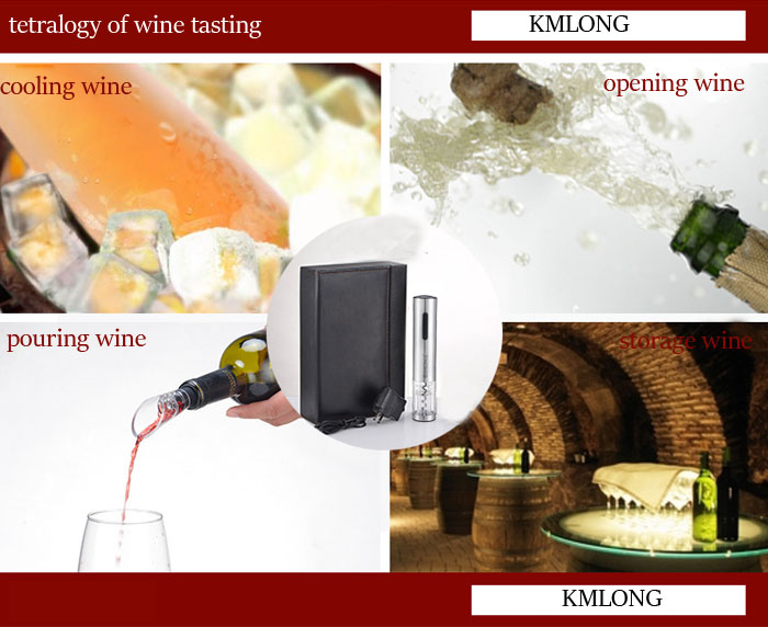 110-220v KMLONG Rechargeable Automatic Wine Opener Electric Wine Bottle Opener with Gift Box