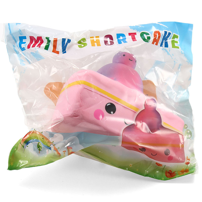Emily Squishy Cake Shortcake Pink Shiny 12cm Slow Rising With Packaging Collection Gift Decor Toy