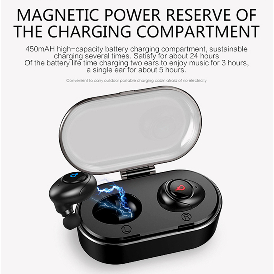 [Truly Wireless] TZ-i8 Stereo bluetooth Earphone With Charger Box Sweatproof Waterproof