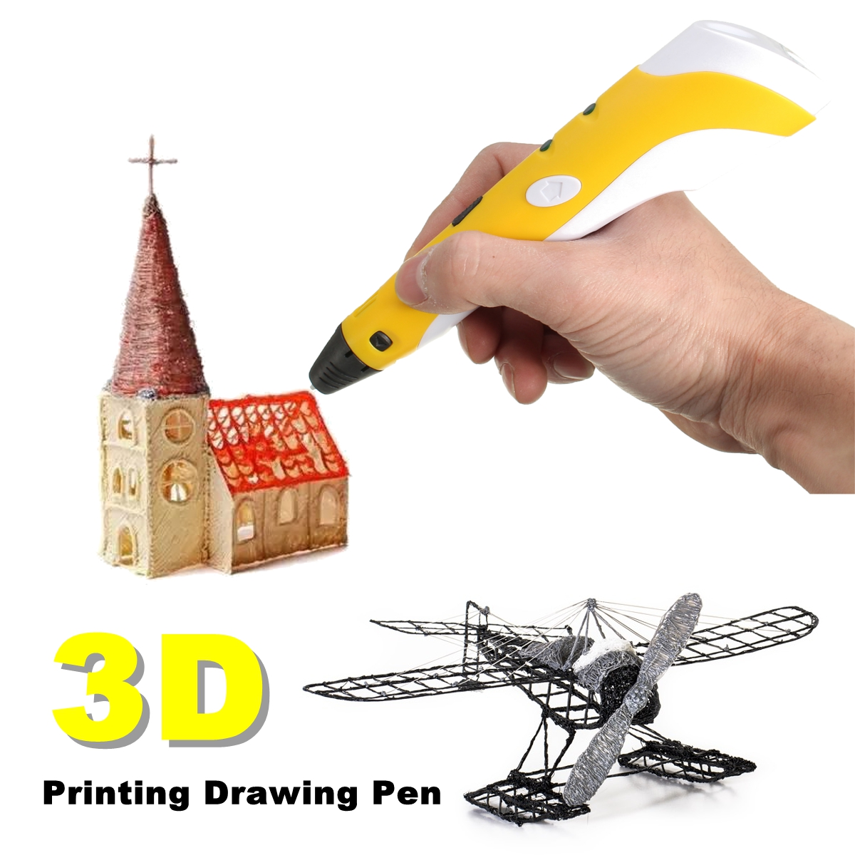 3D Printing Drawing Pen Crafting Modeling ABS Filament Art Printer Tool