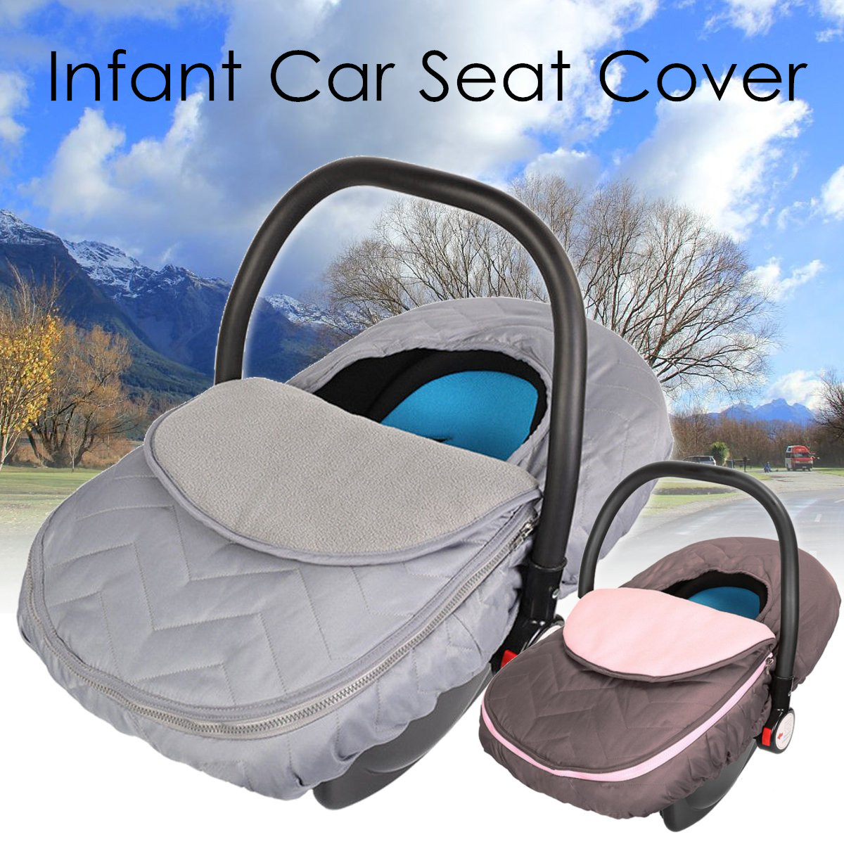 Infant Car Seat Cover Carrier Cover Stroller Accessories For Keeping Your Baby Cozy and Warm