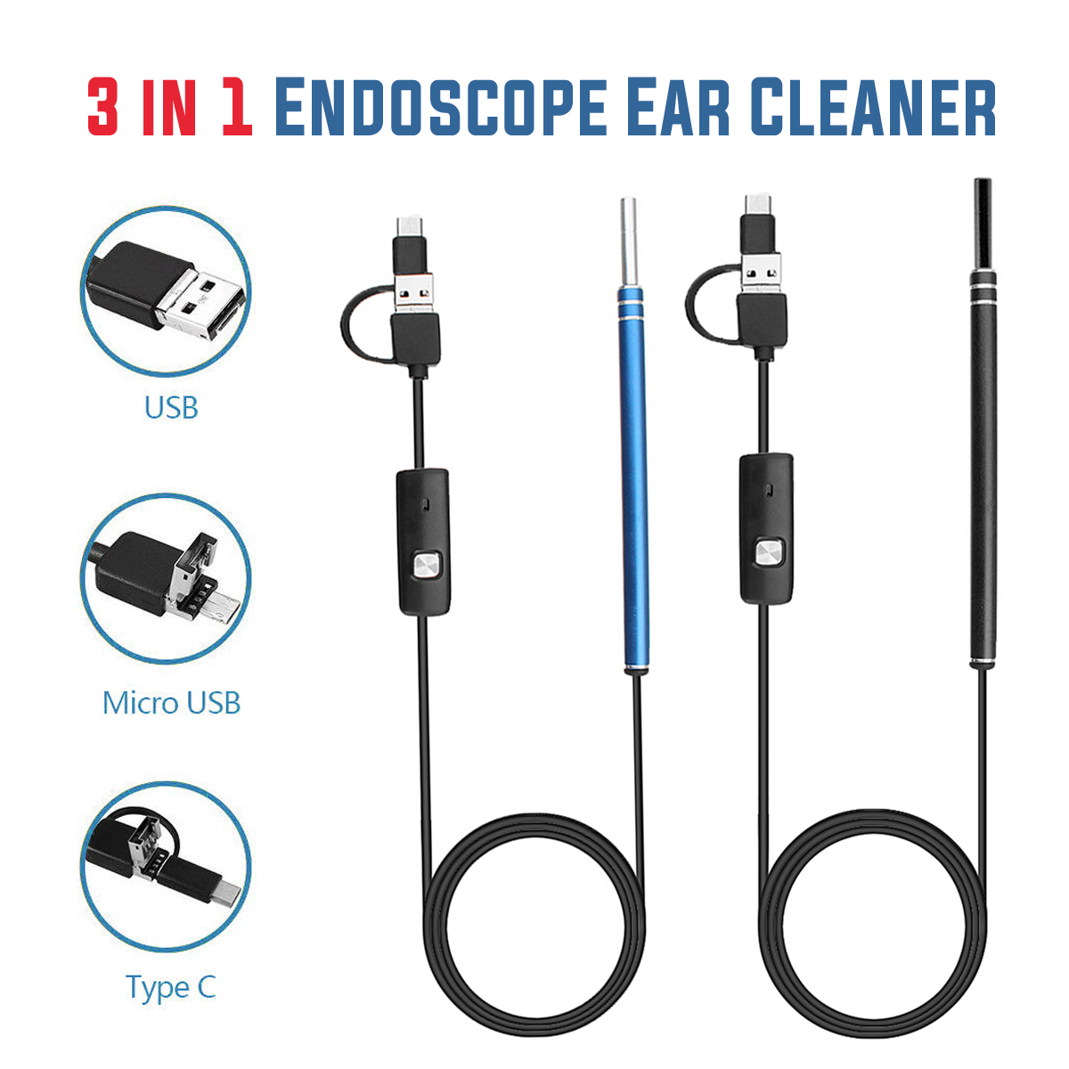 720P Waterproof IP67 Cleaner Borescope Camera for PC Andriod Micro-USB