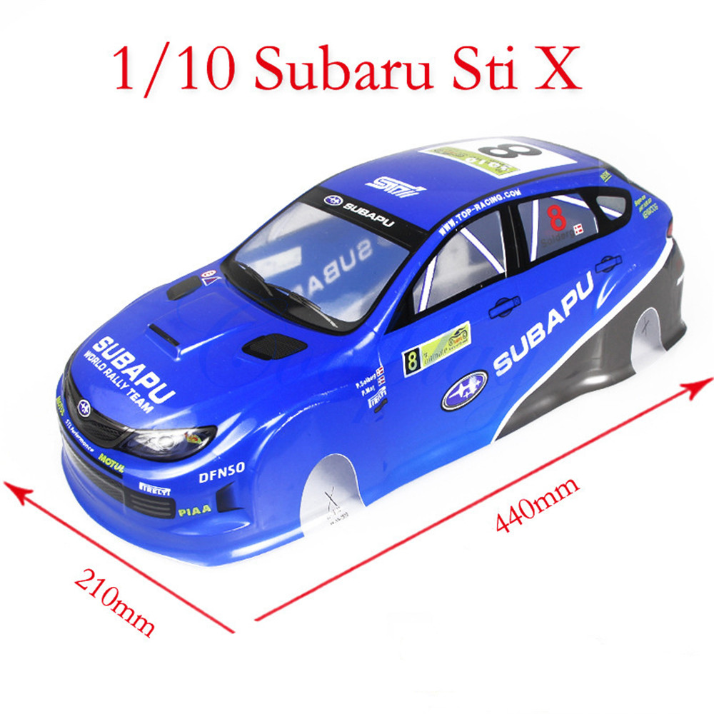 1/10 Scale Rc On-Road Drift Car Body Painted PVC Shell for Subaru Sti X Vehicle Parts