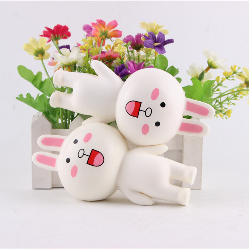 Squishy Rabbit Bun Bunny Jumbo 14cm Slow Rising With Packaging Collection Gift Decor Toy