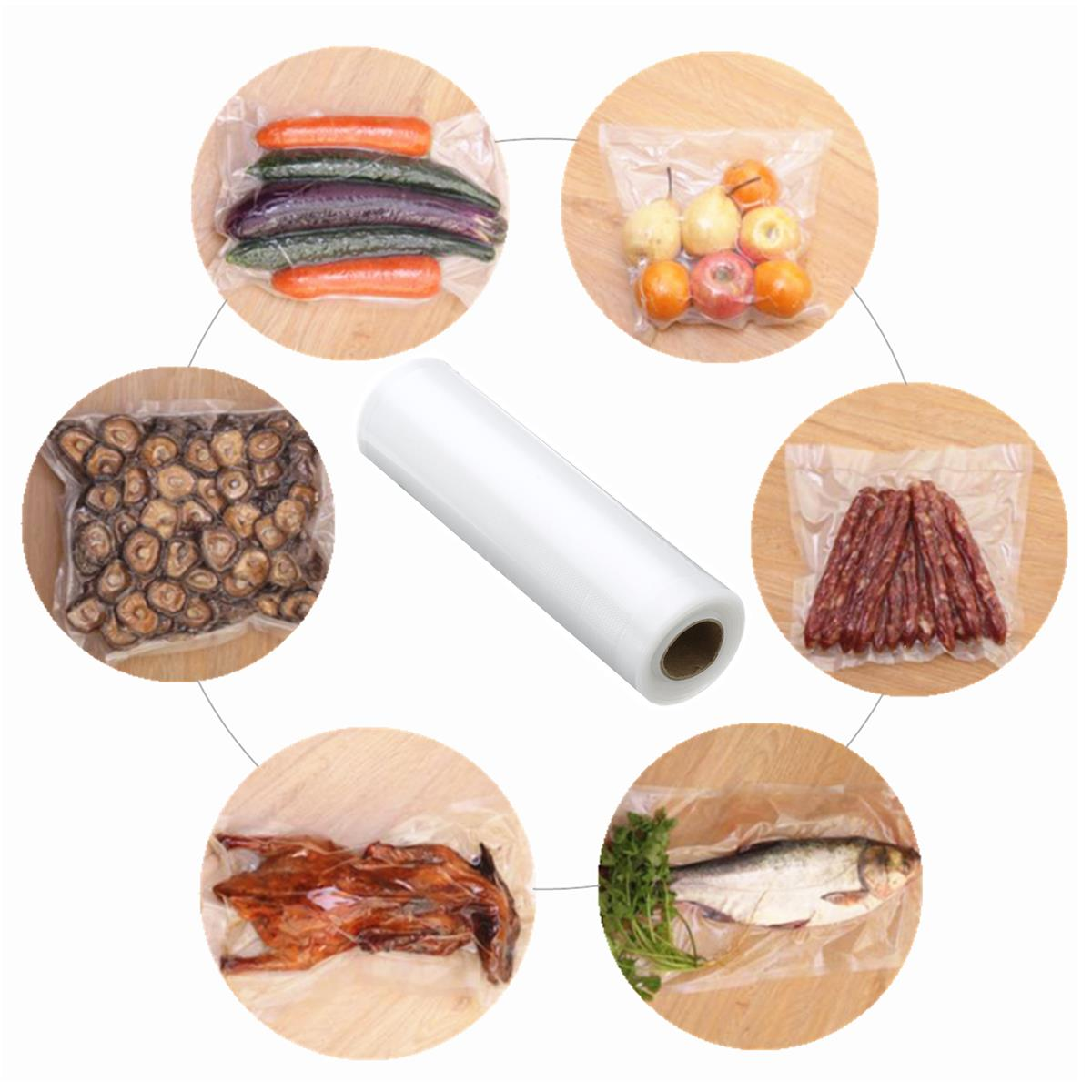 30x500cm Transparent PE Bags Seal Food Storage Vacuum Package Bag