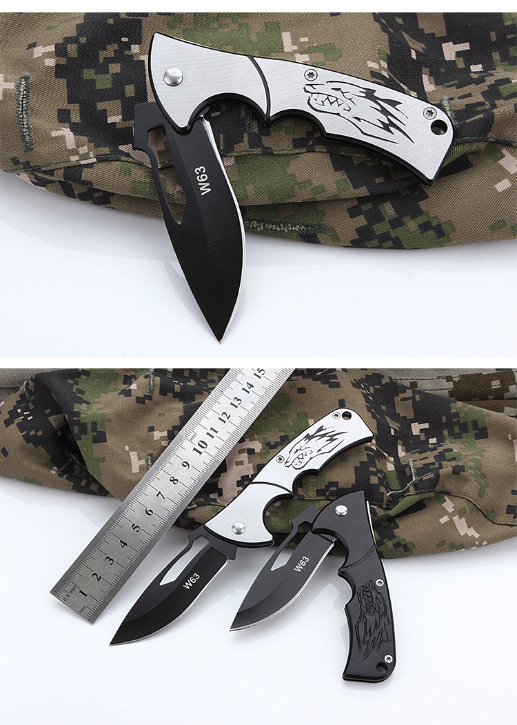 Laotie 168mm 3cr13 Stainless Steel High Hardness Pisau Lipat Outdoor Survival Metode Pengiriman